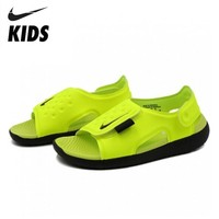 NIKE SUNRAY ADJUST Kids Original 2019 New Arrival Children Sandals Hook&Loop Beach Shoes #AJ9076 700|Sandals| |  -