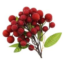 Gresorth Fake Fruit Bunch Decoration Artificial Raspberry Lifelike Food Home Kitchen Shop Party Christmas Display