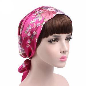 Image 5 - 1PC ファッション花ヘッドスカーフ女性イスラム教徒ストレッチターバン帽子イスラム海賊 Headwraps 弾性睡眠帽子ボンネットレディース Hijabs