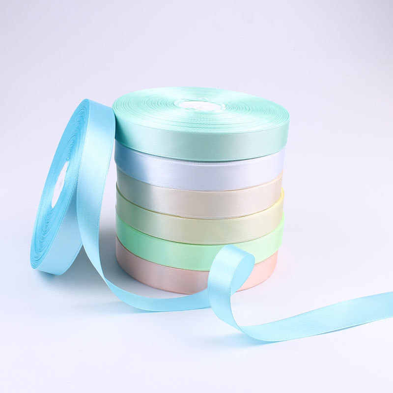 Ткань 20 мм 100 ярдов Розовый Шелковый Атласный органза резинка из полиэстера для шитья Свадебная вечеринка ручной работы декоративная ткань подарочная упаковка