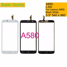 купить 10Pcs/lot For Lenovo A850 A 850 Touch Screen Digitizer Touch Panel Sensor Front Outer Glass Lens A850 Touchscreen NO LCD 5.5