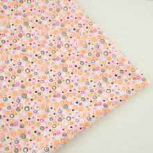 100% Cotton Light Pink Fabric Black and White Circle Design Home Textile Decoration Tecido Sewing Dolls Patchwork CM Fat Quarter(China)