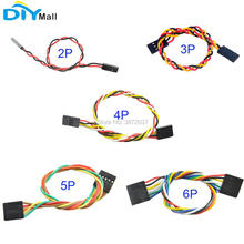 10pcs/lot DIYmall For Arduino DuPont Cable Jumper Wire F/F 200mm 2P, 3P, 4P, 5P, 6P