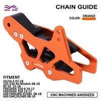 Motorcycle CNC Chain Guide Guard For KTM EXC EXC F SX SX F XC XC F XC FW XC W 125 250 300 350 400 450 125 530 2008 2015