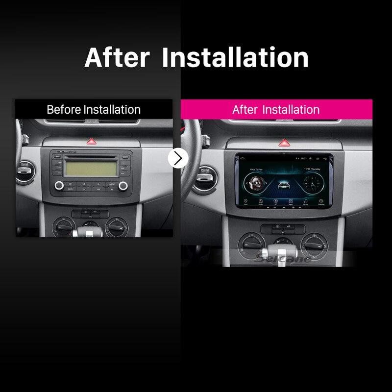 Lecteur multimédia de voiture Seicane Android 8.1 pour VW/Volkswagen/Golf/Polo/Tiguan/Passat/b7/b6/SEAT/leon/Skoda/Octavia 9 2DIN GPS - 6