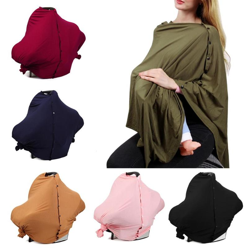 Breastfeeding Cover Multifunctional Baby Infant Breathable Cotton Nursing Cloth Large Size Big Nursing Cover Feeding Cover