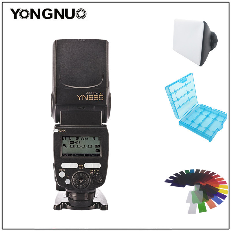 Yongnuo YN-685 YN685N i-ttl HSS Flash sans fil pour Nikon D5/D3X/D810/D800/D750/D610/D5300/D5200/D3300/D3200/D7200