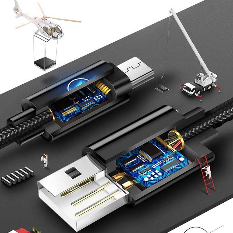 マイクロ USB ケーブル 2A 高速充電マイクロ Usb 充電器コードサムスン Xiaomi Redmi 注 5 プロ名誉タブレット携帯電話マイクロ USB