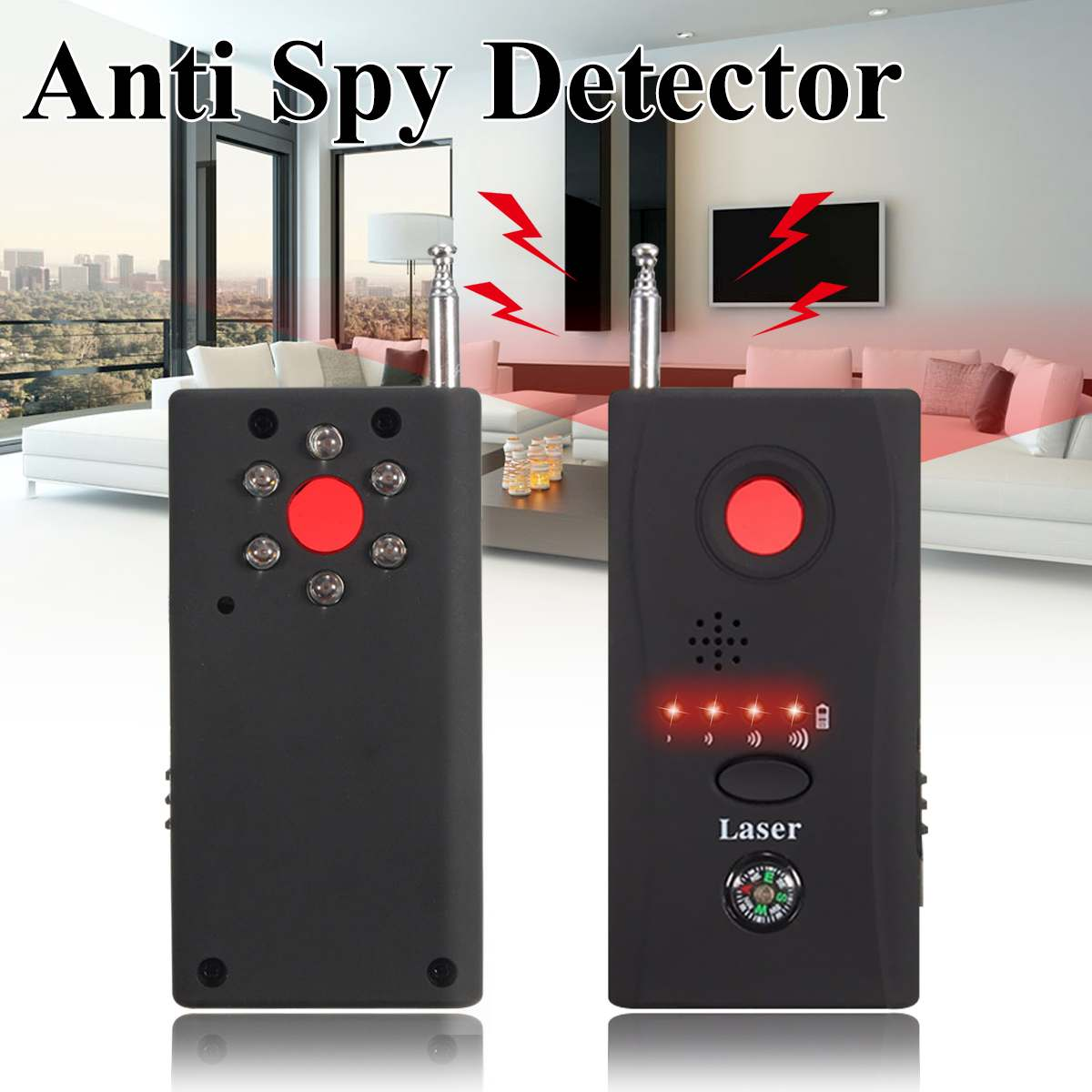 Anti Spys Bug Detector Mini Wireless Camera Hiddens Signal GSM Device Finder for Privacy Protect SecurityAnti Spys Bug Detector Mini Wireless Camera Hiddens Signal GSM Device Finder for Privacy Protect Security