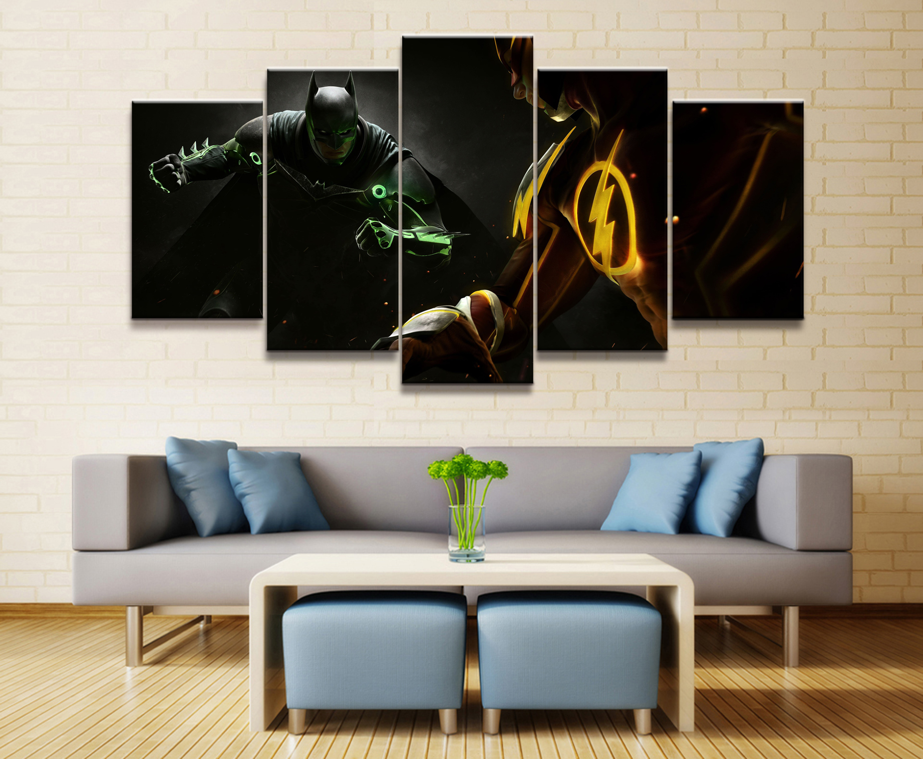 5 Panel DC Flash Batman Movie Cartoon Canvas Printed Painting For Living Room Wall Art Home