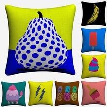 Fruit Minimalist Pop Art Design Decorative Cotton Linen Cushion Cover 45x45cm Throw Pillow Case For Sofa Home Decor Almofada цены