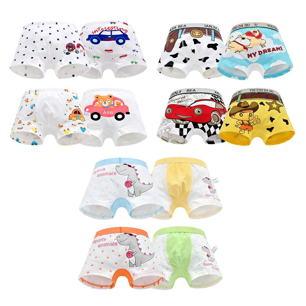 Kidlove 4pcs/set Kids Boys Fashion Cute Cartoon Soft Cotton Shorts Panties
