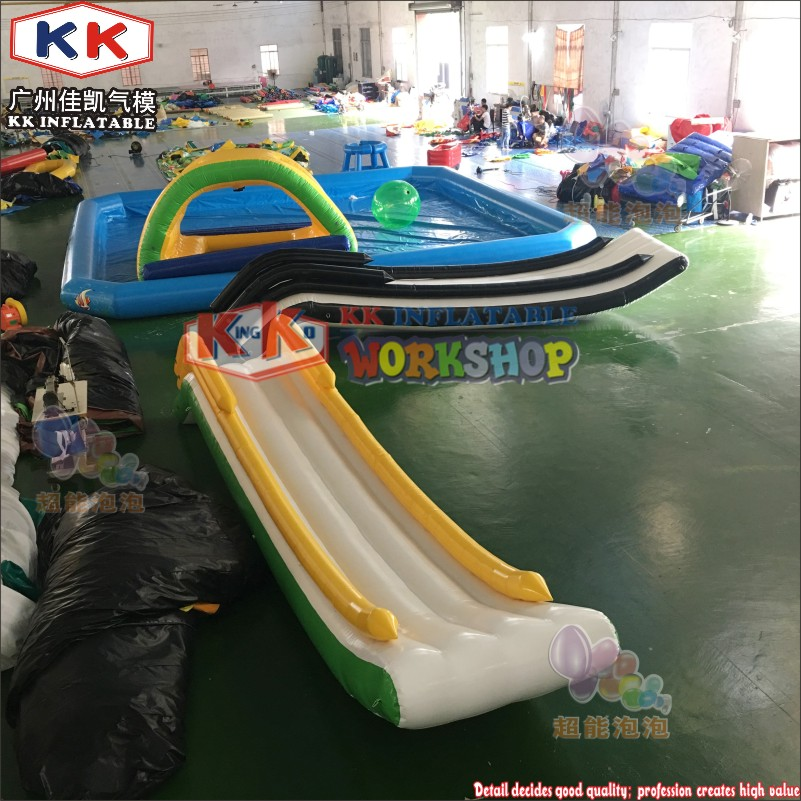 Yacht Inflatable Play Center Water Slide Cruiser Curved Slide For Sea Sport Equipment