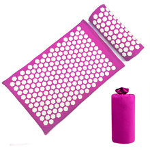 Pillow-Set Yoga Mat Massage-Pads Acupuncture-Mat Relaxation Rug Stress-Relief Back-Neck