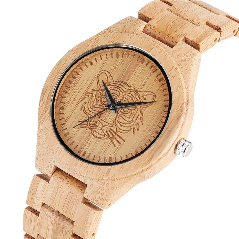 Relogio Feminino Natural Bamboo Quartz Watch Movement For Women Men Classic Wood Watch Elegant Bamboo Strap Wooden Wristwatch