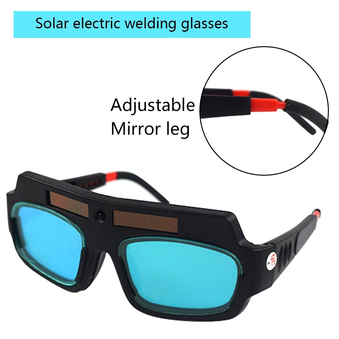 Welding Protective Glasses Auto-darkening Welding Glasses 1pc Solar Powered Auto Darkening Welding Helmet Mask Welding Glass