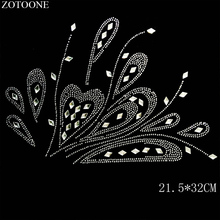 ZOTOONE Sewing Motif Rhinestones for Needlework Crystal Clear AB Hotfix Rhinestone Trim Applique Clothes Dress Decoration E