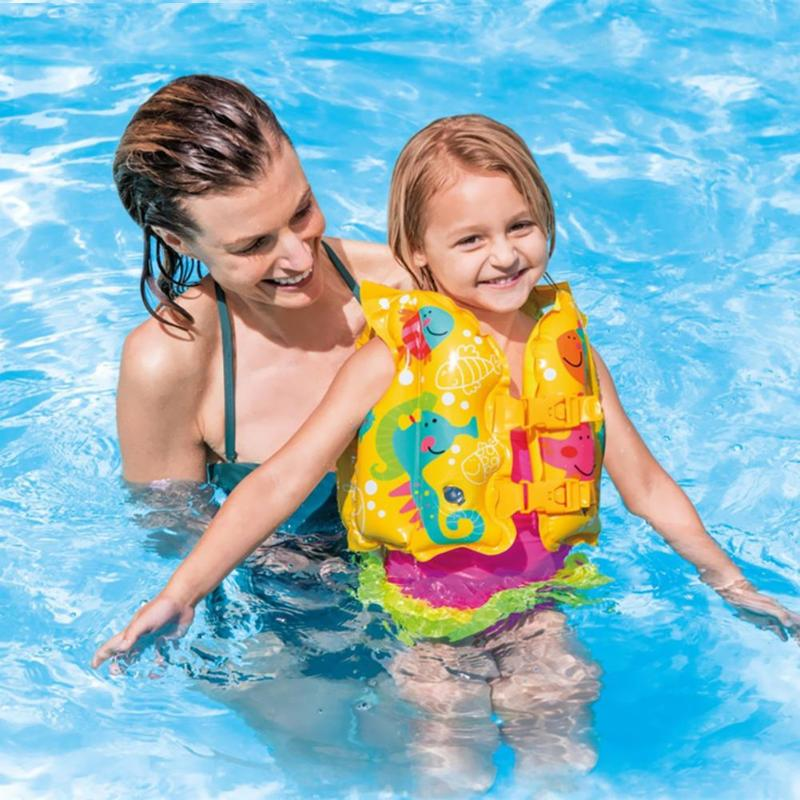 Summer 2019 Kids Safety Swimming Buoyancy Vest Baby Beach Float Aid Life Jacket Children Inflatable Raft Rings Toy