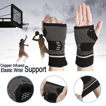 1 шт. медные инфузированные лечение артрита компрессионные перчатки для большого пальца руки Поддержка запястья перчатки тендонит ревматоидный облегчение боли