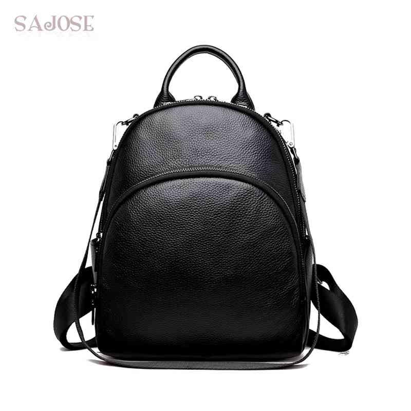 Fashion Genuine Leather Women Backpack Designer High Quality Backpacks for Teenage Girls Female School Shoulder Bag