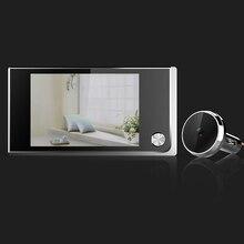 Интеллектуальное Домашнее использование глазок дверной звонок Многофункциональный LCD цветной цифровой домашний безопасность