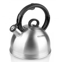 Чайник RONDELL RDS-237 (Объем 2,4 л, высококачественная нержавеющая сталь, подходит для всех типов плит, возможность налива воды одной рукой)