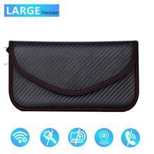 إشارة حجب غطاء حقيبة مانع إشارة حالة Faraday قفص الحقيبة ل مفاتيح السيارة بدون مفتاح الإشعاع حماية هاتف محمول