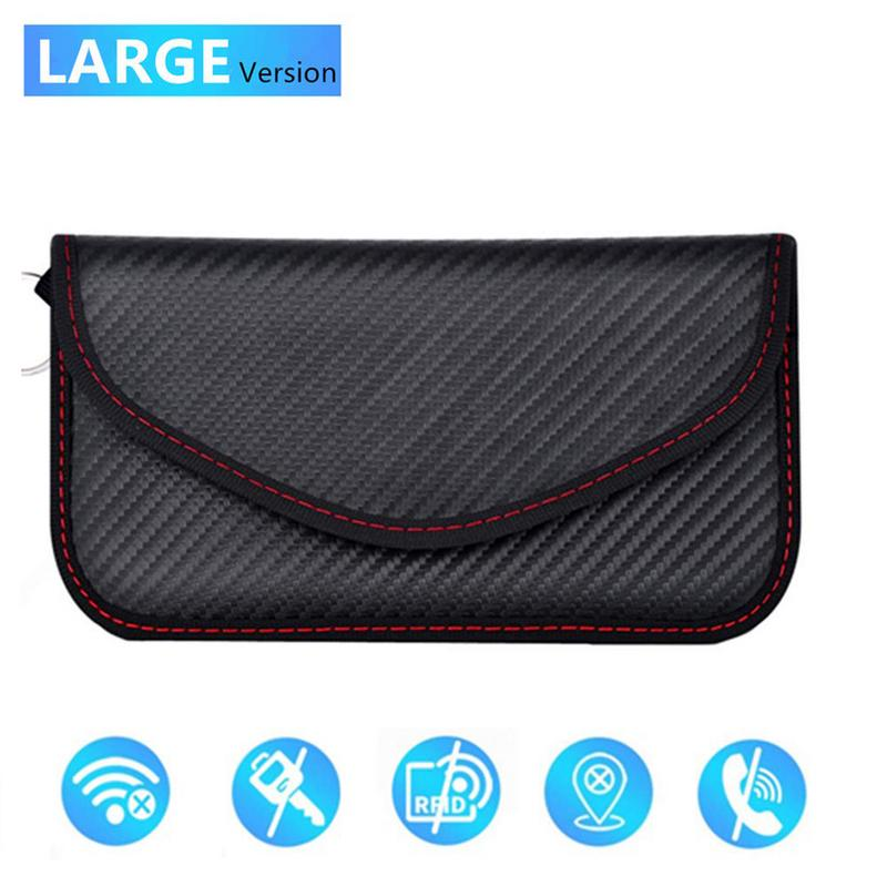 Image 2 - Signal Blocking Bag Cover Signal Blocker Case Faraday Cage Pouch For Keyless Car Keys Radiation Protection Cell Phone-in Key Case for Car from Automobiles & Motorcycles