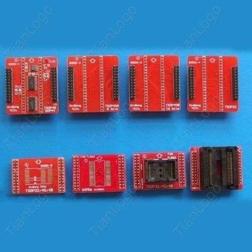 8 adaptateurs/set TSOP32/40/48, SOP44, SOP56 adaptateurs pour TL866CS, TL866A carte supérieure de prise de programmeur