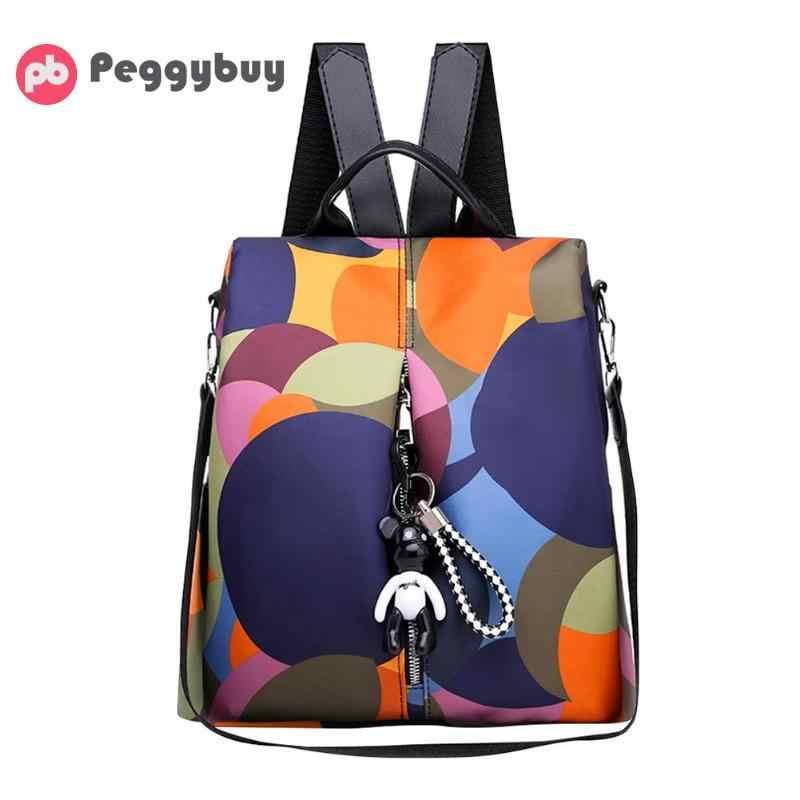 14c8eef072bb Для женщин Мода Оксфорд Рюкзаки Multi Bagpack повседневное Anti Theft  подросток обувь для девочек школьные рюкзаки