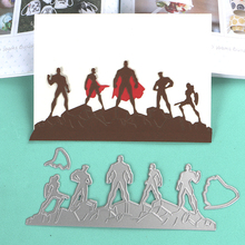 DUOFEN METAL CUTTING DIES The American Super Team border stencil DIY Scrapbook Paper Album 2019 new