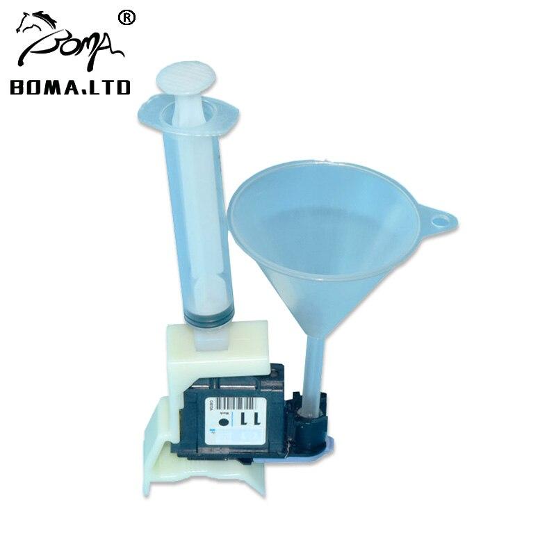 Unidades de cabeça de impressão Mais Limpo kit Para HP 11 10 82 84 85 Ferramentas De Limpeza Para HP 100/110/111/500/510/800/813/850/510 Cabeça De Impressão Bico