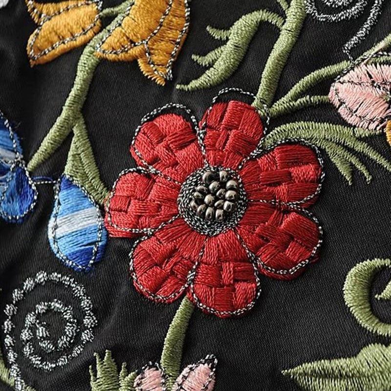 Molla Tuta E Magliette Cappotto 2019 B546 Rilievo Casual Abiti Ricamo In Giacca Elegante Vintage Della Sportiva Camicette Donne Color Delle Picture Signore Femminile 5UTqAwExT