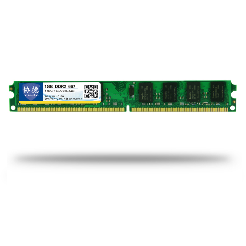 Xiede Desktop Computer Memory Ram Module Ddr2 667 Pc2-5300 240Pin Dimm 667Mhz For Intel/Amd-SCLL