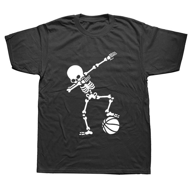Hip Hop Dab Dabbing Skeleton Footballer Basketballer T Shirt Men Casual Cotton Short Sleeve Funny Printed T-shirt Tshirt