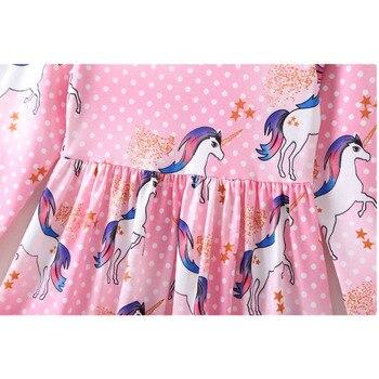 Kids Infant Unicorn Floral Party Dresses Toddler Autumn Spring Clothes 4