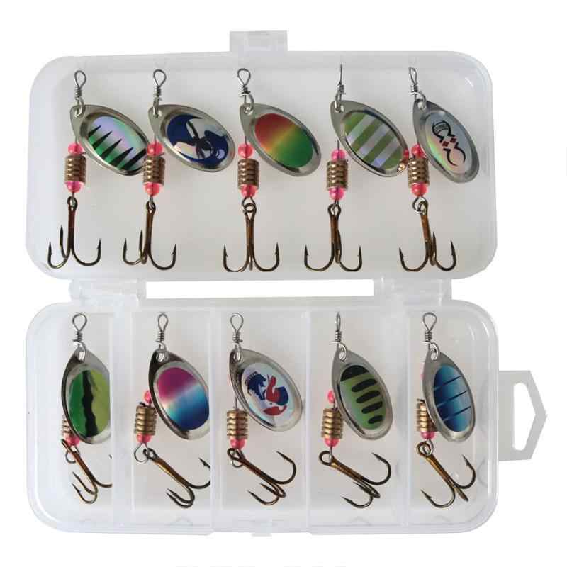 1BOX Fishing Lures Sequin Spoon Wobbers Baits Crankbait Bass Artificial Bait Fishing Tackle Accessories