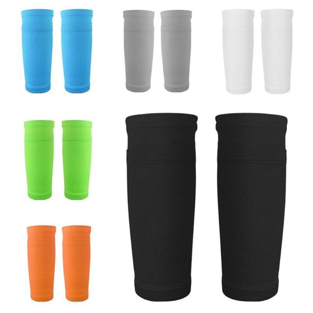 1Pair Soccer Protective Socks With Pocket For Football Shin Pads Leg Sleeves Supporting Shin Guard Adult Support Sock Shin Guard
