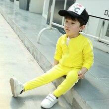 Fashion Children Boys Girls Cotton Clothing Sets Casual Baby Jacket Pants 2pcs/sets Kids Stripe Sport Suits Toddler Tracksuits недорого