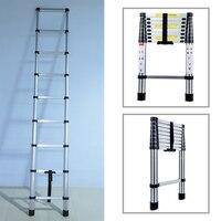 3,2 м многофункциональный портативный, из алюминиевого сплава Складная выдвижная лестница безопасной и стабильной строительные инструмент