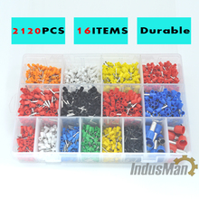 7 color 6 value 2120pcs/lot Bootlace cooper Ferrules kit set Wire Copper Crimp Connector Insulated Cord Pin End Terminal стоимость