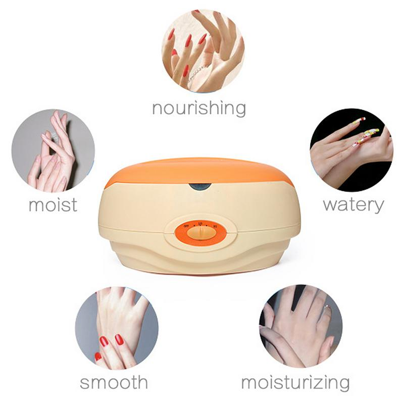 Machine à cire grande capacité réchauffeur Machine Kit outil pour mains et pieds SPA traitement accessoires pour nourrit la peau Orange