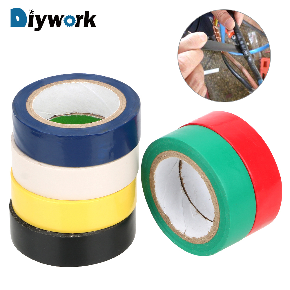 DIYWORK Adhesive Tape Waterproof 16mm*10m PVC Insulation High-temperature Tape Electrical TapeDIYWORK Adhesive Tape Waterproof 16mm*10m PVC Insulation High-temperature Tape Electrical Tape