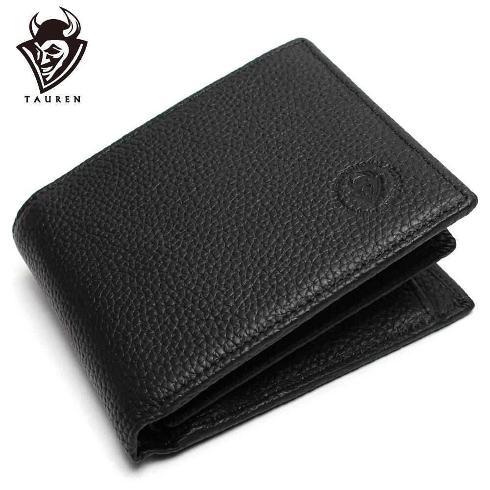 100% Wahr Männer Brieftasche Förderung Ausgezeichnete Echtem Kuh Leder Geldbörse Schwarz Büro Männer Vintage Geldbörsen Erste Schicht Rindsleder