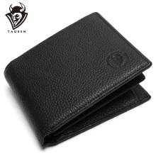 Men Wallet Promotion Excellent Genuine Cow Leather Purse Black Office Men's Vintage Wallets First Layer Cowhide