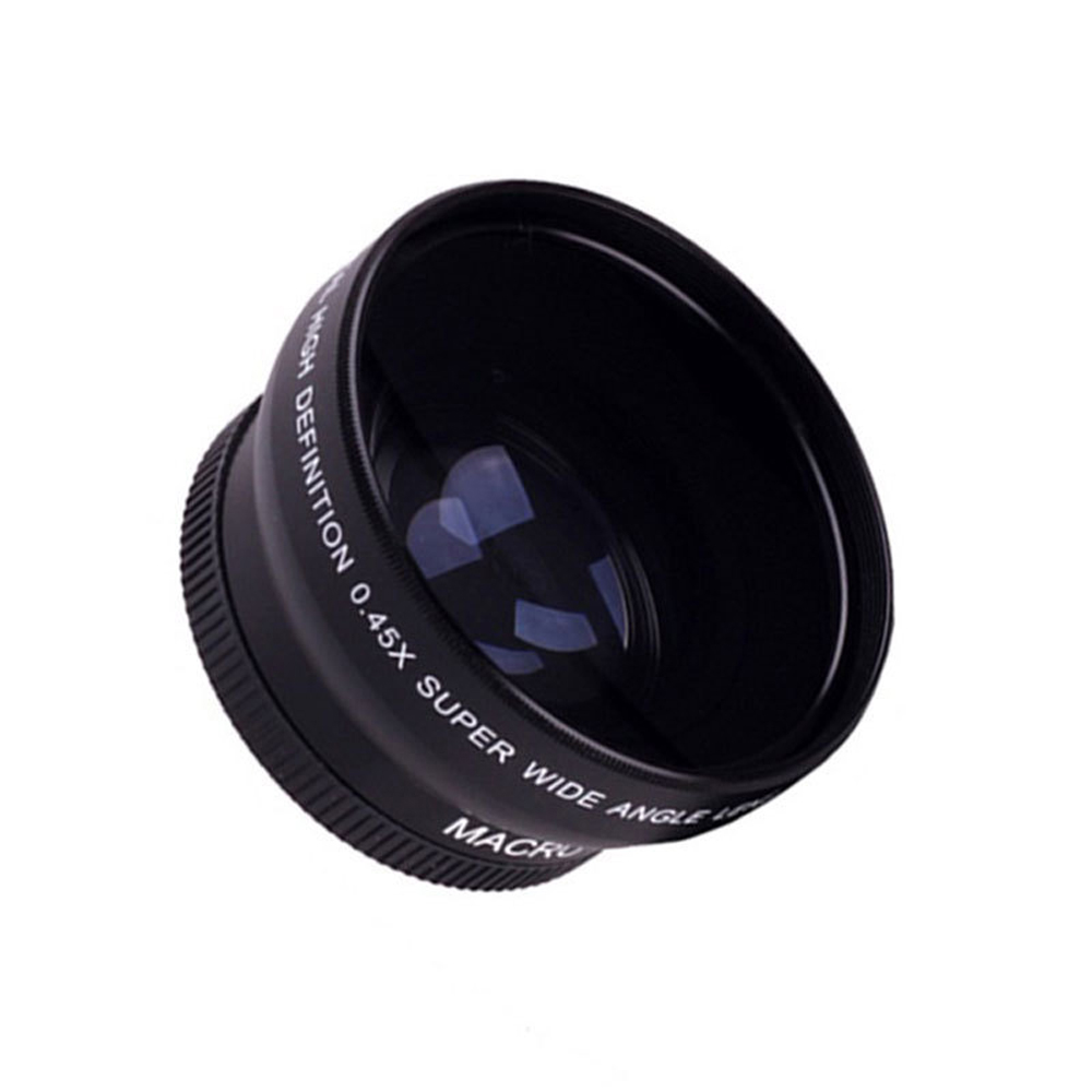 Super Quality Hd 52mm  58mm 0 45x Wide Angle Lens   Macro