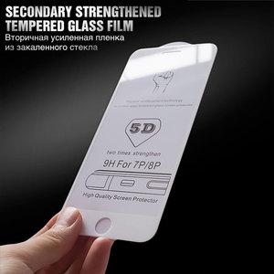 Image 2 - 5D スクリーンプロテクターガラス iphone 6 6x7 8 フルカバー強化ガラス 7 8 プラス XR XS 最大保護フィルム