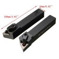 2Pcs MTJNL1616H16 MTJNR1616H16 선반 도구 홀더 16x100mm TNMG 4 렌치 + 2 보링 바 키트 삽입 키트