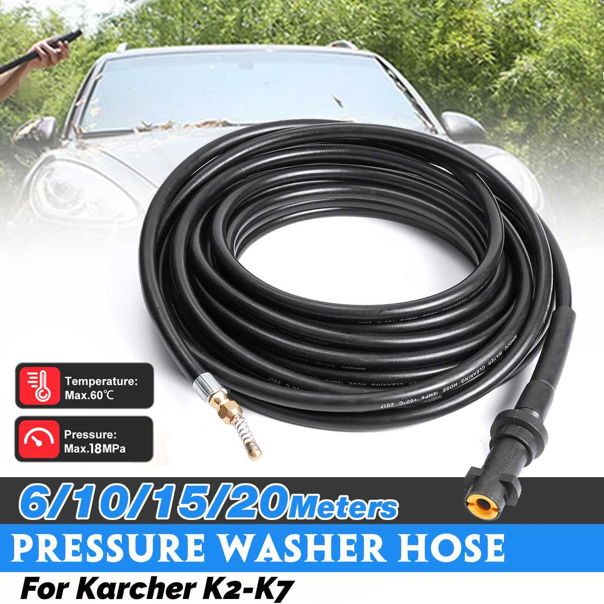 K7 Series Domestic Pressure Wa Kärcher 15 m Pipe and Drain Cleaning Kit for K2