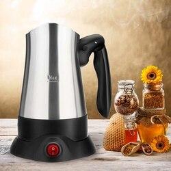 270ml Stainless Steel 800W Electric Espresso Moka Coffee Maker Machine Portable Electric Coffee Tea Pot with Folding Handle